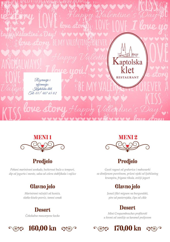 Valentinovo menu