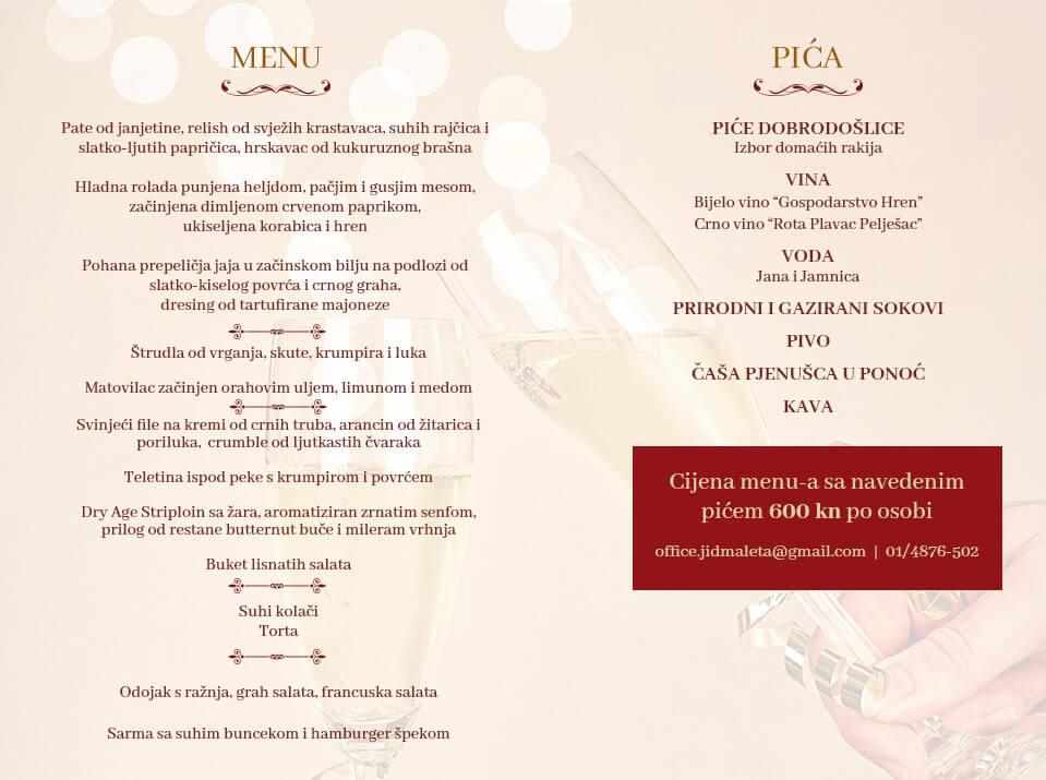Novogodišnji menu